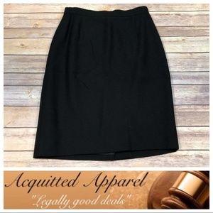 Valentino Black Dressy Pencil Skirt Workwear